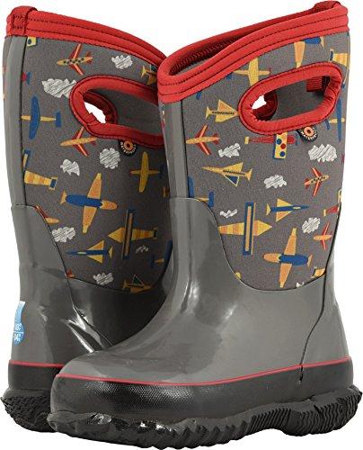 Bogs Classic High Waterproof Insulated Rubber Neoprene Rain Boot Snow, Planes Gray Multi, 11 M US Little Kid