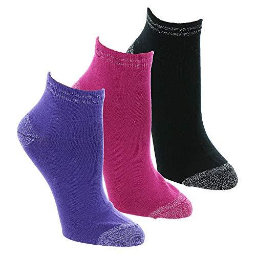UGG Women's Ankle Sock Gift Set, Fuchsia/Violet Bloom/Black, O/S
