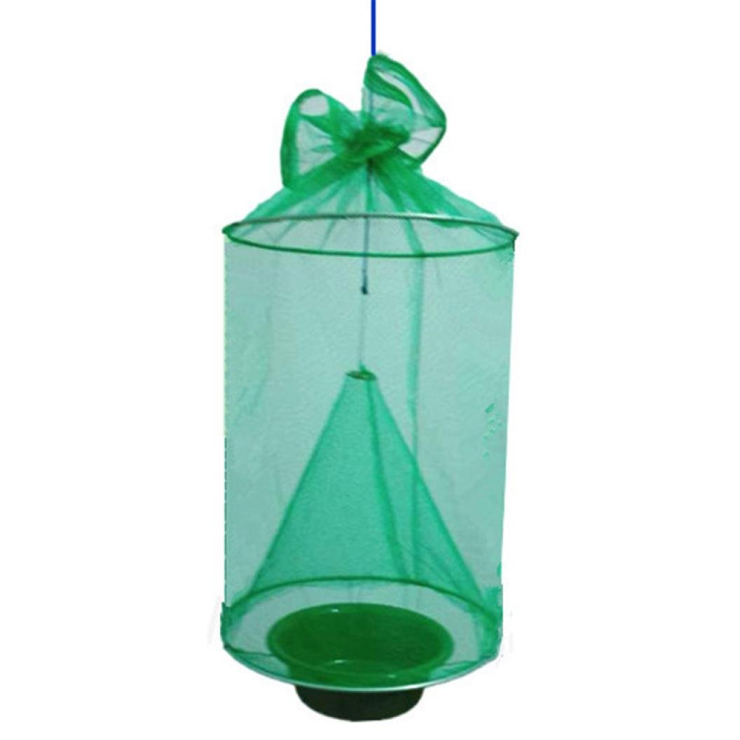 Iusun Fly Catcher Flytrap Fly Wasp Insect Bug Killer Flycatcher Top Catcher The Ultimate Red Drosophila Fly Trap Pest Hanging Killer (Green)