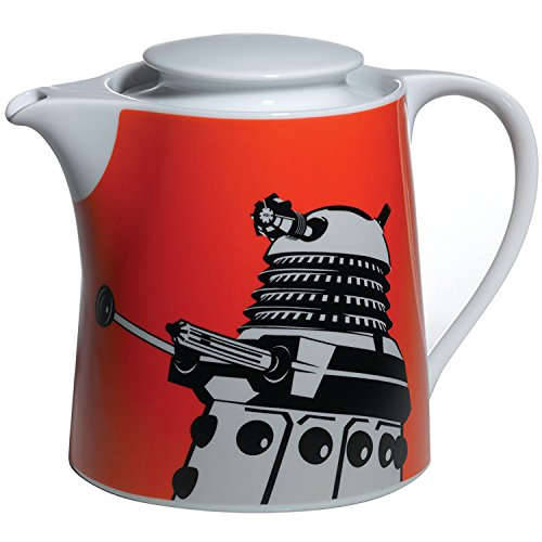 Doctor Who Dalek Tea Pot (Orange) (Teapot Doctor Who)