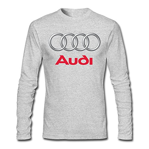 - FZLB Men's Audi Logo Long Sleeve T-Shirt Large HeatherGray