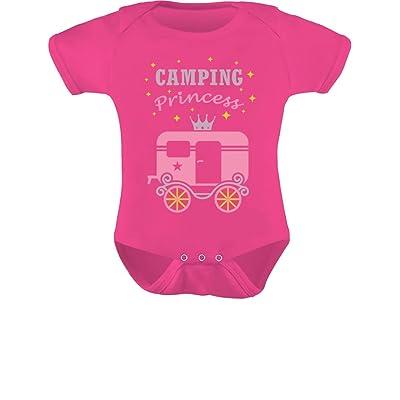 Tstars TeeStars - Camping Princess Baby Girl Camper Camping Gift Baby Bodysuit