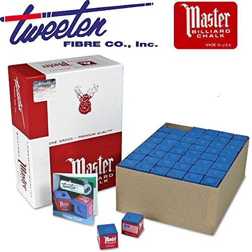 Master Biliardo stecca gesso Tweeten blu made USA confezione da 144 gessi in cubetto gesso tradizionale e universalmente conosciuto.