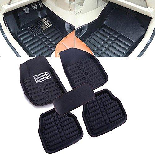 Generic 5pcs Universal Car Auto Floor Mats FloorLiner Front&Rear Carpet All Weather Mat