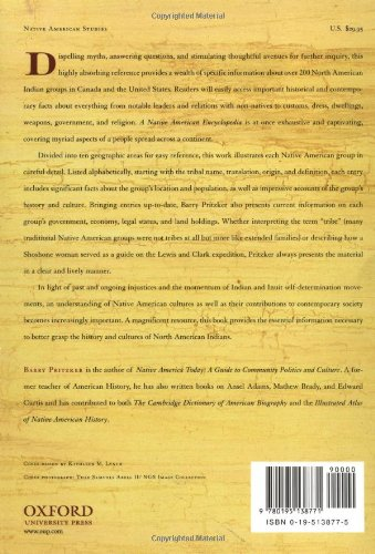 A Native American Encyclopedia: History, Culture, and
