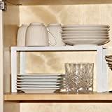 Kitchen Countertop Organizer 1 White Metal Kitchen Cabinet and Counter Top Organizer Shelf , 13 inch wide 5 inch deep