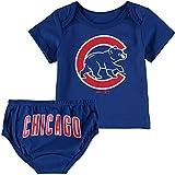 Chicago Cubs Blue Infants Shirt And Diaper Mini Uniform Set
