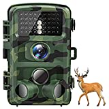 AKASO Trail Camera 16MP 1080P Waterproof Hunting Scouting Cam TC05 with Motion Activated Night Vision 120°Detecting Range and 0.4s Trigger Speed for Wildlife Monitoring