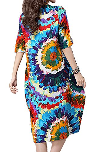 P Ammy Fashion - Vestido - camisa - para mujer Azul