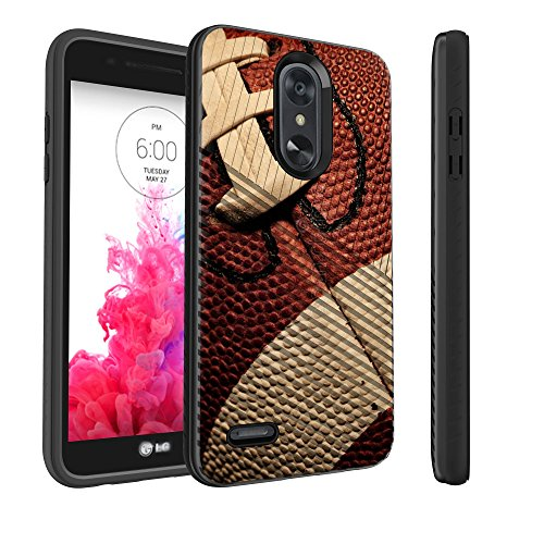 LG Aristo 2, LG Fortune 2, LG Tribute Dynasty, Rebel 3 LTE Case [Stripe Force] Dual Layer Hybrid Flexible TPU Bumper Case Cover by Untouchble - Football