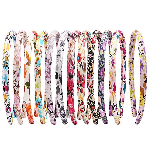 Candygirl Christmas Gifts Flora Plaid Satin Girls headbands Value Pack (New Flora)