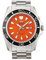 Orient Orange Dial Mako II Automatic Watch on a Bracelet EM75001M
