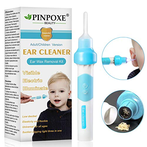 Ear Wax Removal Kit, Ear Cleaner, Portable Automatic Electric Vacuum Ear Wax, Ear Vacuum Cleaner Easy Earwax Remover Soft Prevent Ear-Pick Clean Tools Set, Safe and Comfortable for Adults Kids (Best Ear Wax Removal Method)