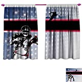 Best Div X Players - Americana Patterned Drape for Glass Door Baseball American Review