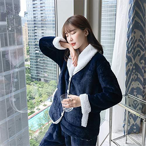 Pijamas Servicio Mujer E 168cm Para Invierno Traje Otoño A 162cm Xl162 50kg De Franela 65kg 58 Terciopelo Coral Y M150 30 Cálido Domicilio Pajamasx El dOx44Z
