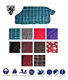 AceRugs New Premium 1200D Turnout Waterproof Horse Winter Blanket Blue Green RED Purple 72 82 (78, Navy Plaid)