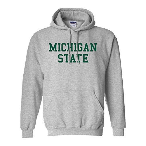 Michigan State Spartans Basic Hoodie - Medium - Sport Grey