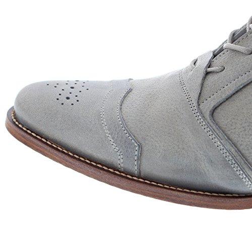Fb Mode Laarzen Afkickkliniek Kurt Ii Crack Grijs Lederen Schoenen Voor Mannen Grijs Veterschoenen