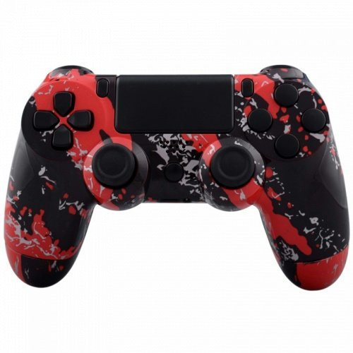 ModFreakz™ Shell/Button Kit Hydro Dipped Red Splatter For PS4 Gen 1,2 V1 Controller Dipped Grip