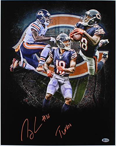 (Taylor Gabriel #18 Signed Chicago Bears 16x20 Photo Inscribed