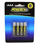 Powerex MHRAAA4 Powerex AAA 1000mAh 4-Pack Rechargeable Batteries
