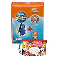 Huggies Little Swimmers Disposable Diaper Swimpants, Size Medium, 18 Count, Bonus Pack