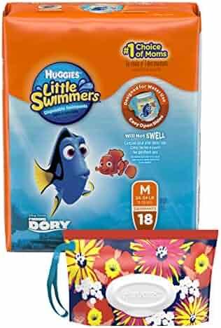 Huggies Little Swimmers Disposable Diaper Swimpants, Size Medium, 18 Count, Bonus Pack