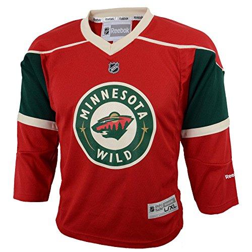 Nhl Minnesota Wild Player - OuterStuff NHL Minnesota Wild Boys Team Replica Player Jersey, Large/X-Large, Crimson