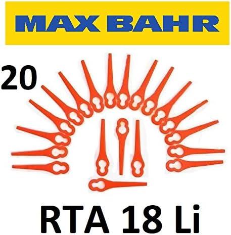 20 MAX Bahr Cuchilla de repuesto rta18li – Batería Cortacésped ...