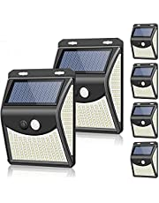Solar Lights Outdoor[4 Optional Lighting Modes & 270° Lighting Angle], Towkka 222 LED Solar Motion Sensor Lights Wireless IP65 Waterproof Outdoor Security Lights for Deck, Fence, Yard, Patio(6 Pack)
