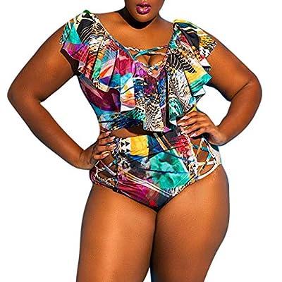 ALIKEEY Mujeres Sexy Print Traje De Baño De Dos Piezas Beachwear Siamés Bikini Removal After Shave Rayure Apron Ado Bresilien Bathing Suits Bottom Wax Kit Strips Wrap Bas: Ropa y accesorios