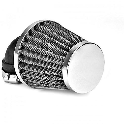 28mm 90/° Tuning Sport Luftfilter Air Filter f/ür Motorrad Roller Quad Moped Mofa