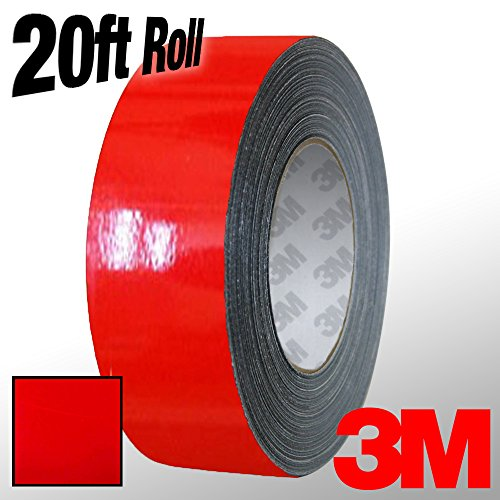 3M 1080 Hot Rod Red Gloss Vinyl Detailing Wrap Pinstriping Tape 20ft Roll (1