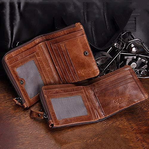 Verticale Clip A Horse Patta Crazy Money Portafoglio Pelle Rzl Brown Con In Pochette Uomo Da CPxpZq