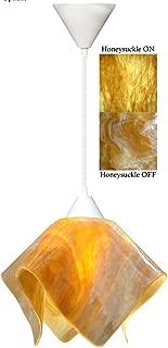 product image for Jezebel Signature Flame Pendant Large. Hardware: White. Glass: Honey