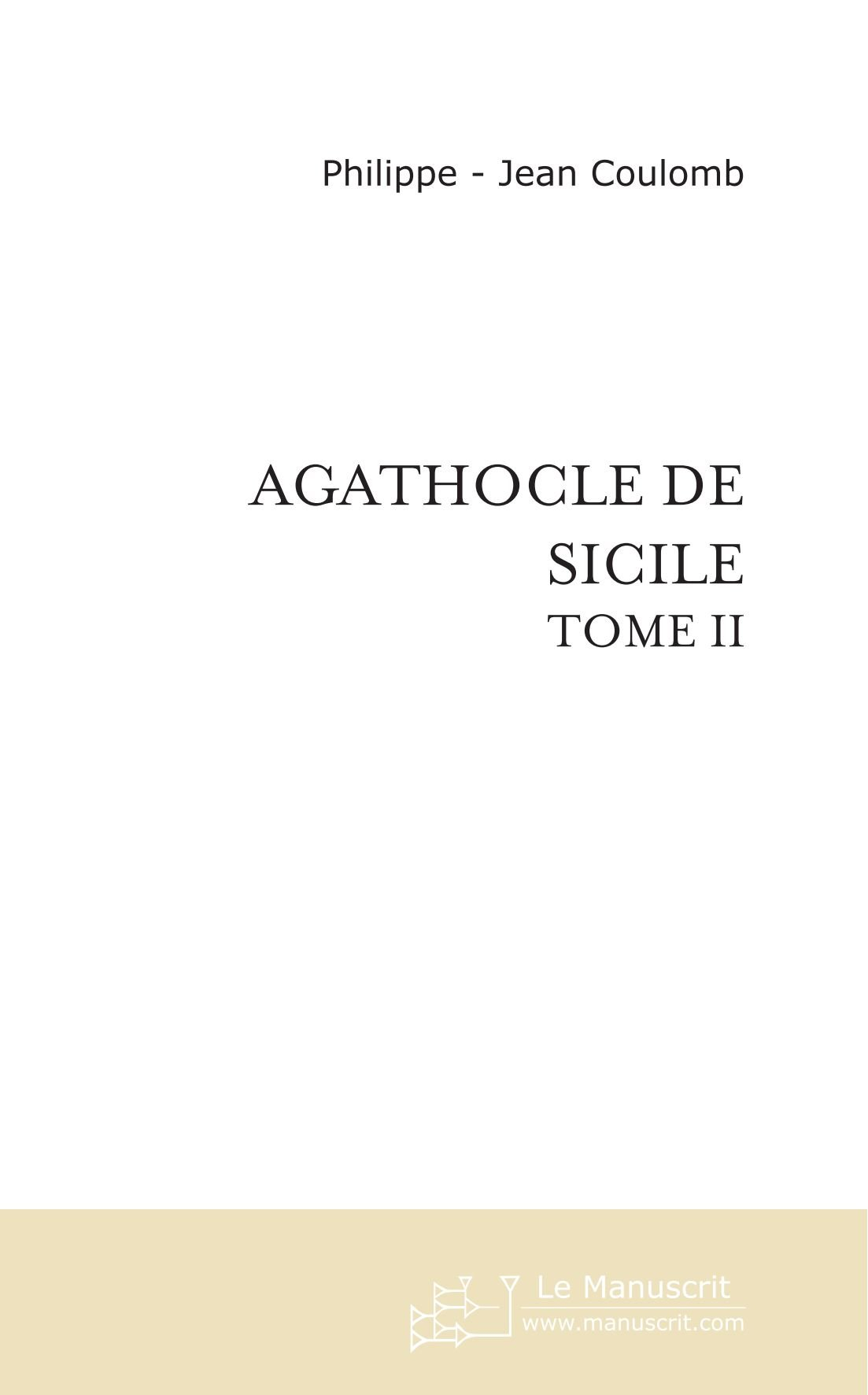 Agathocle De Sicile: Tome II (French Edition) pdf epub