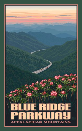 Northwest Art Mall Blue Ridge Parkway in Spring North Carolina Wall Art by Paul Leighton, 11 by - Parkway Mall