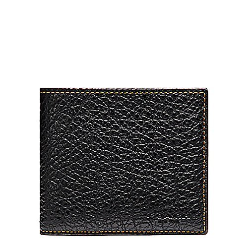 Card Bills Buffalo Credit (Coach Double Billfold Wallet in Buffalo Embossed Black Leather - F12021)