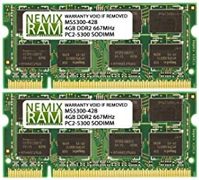 RAM Memory Upgrade Kit for the Sony VAIO VGN FZ290 DDR2-667 2x4GB 8GB VGNFZ290N5 PC2-5300