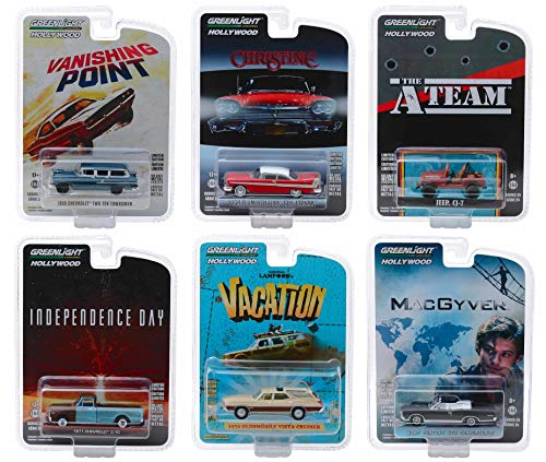 Hollywood Series Release 24, Set of 6 Cars 1/64 Diecast Models by Greenlight ()