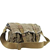 Vagabond Traveler Vintage Style Large Canvas Messenger Bag from Vagabond Traveler
