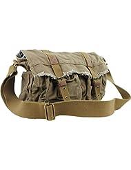 Vagabond Traveler Vintage Style Large Canvas Messenger Bag