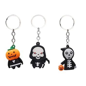 NUOBESTY Halloween Llaveros Fantasma Calabaza Colgante de ...