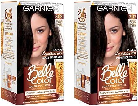 Garnier Belle Color C6062774 Les Castains Eclat 3.03 Oscuro Natural Dorado Coloración – Lote de 2