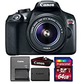 Canon EOS Rebel T6 18MP DSLR Camera with 18-55mm Lens and 64GB Memory Card