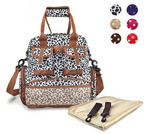 Hoxis Chic Pattern Multifunction Baby Boom Backpack Diaper Bag (Cow)
