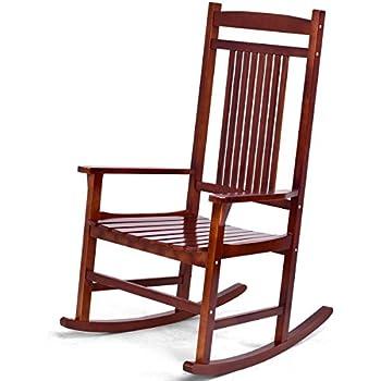 Amazon Com Giantex Rocking Chair Solid Wood Rocker