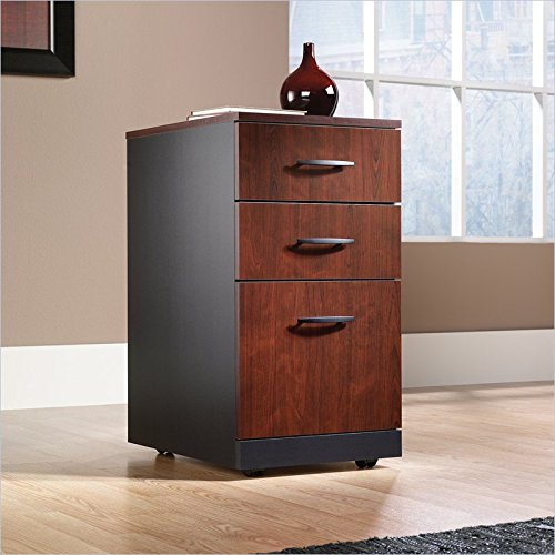 Via 3-Drawer Mobile Pedestal (Cabinet Mahogany Small)
