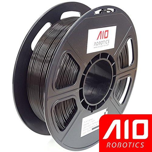 AIO Robotics AIOBLACK PLA 3D Printer Filament, 0.5 kg Spool, Dimensional Accuracy +/- 0.02 mm, 1.75 mm, Black by AIO Robotics