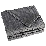 MAICICO Weighted Blanket Duvet Cover Flannel Premium Removable (Light Gray, 60''x 80'')